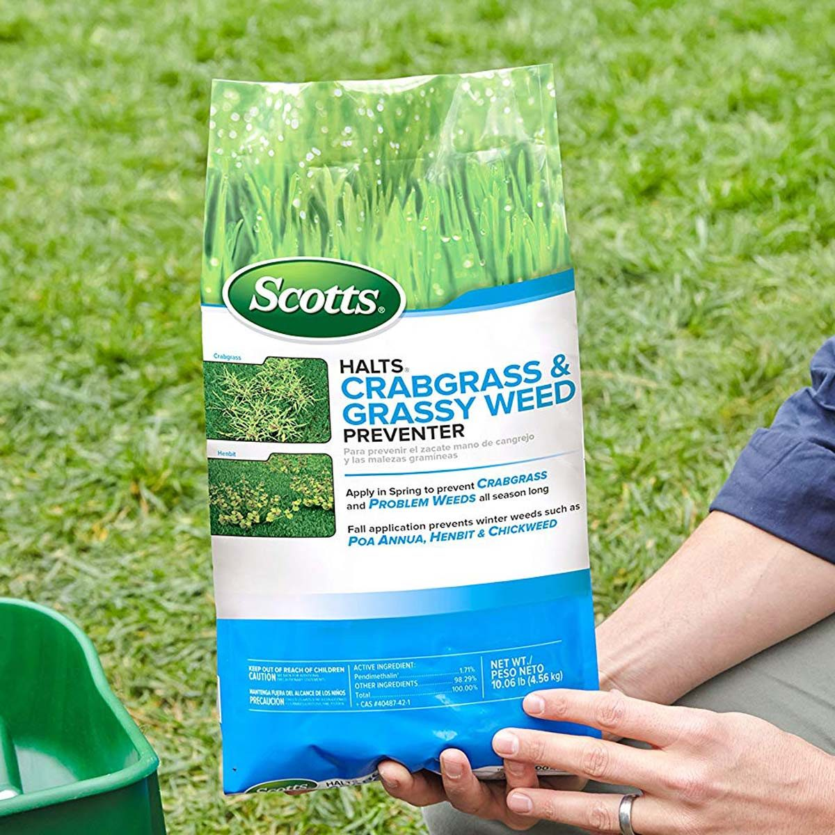 Scotts crabgrass and weed preventer