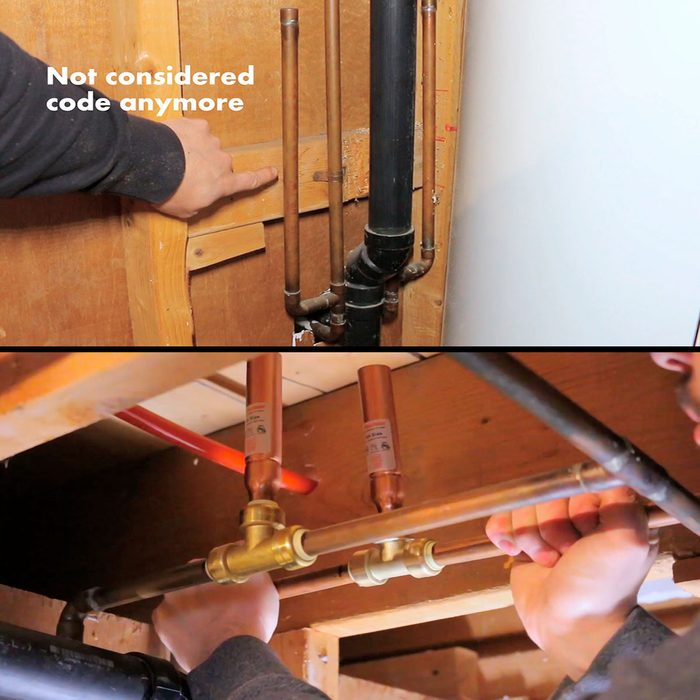 Examples of arrestors in piping   Construction Pro Tips