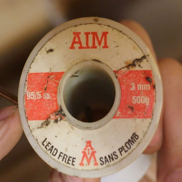 Spool of solder that is lead free   Construction Pro Tips