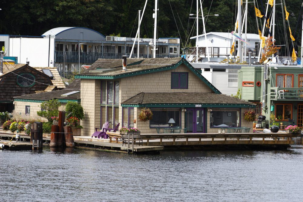 Floating Home used in Sleepless in Seattle