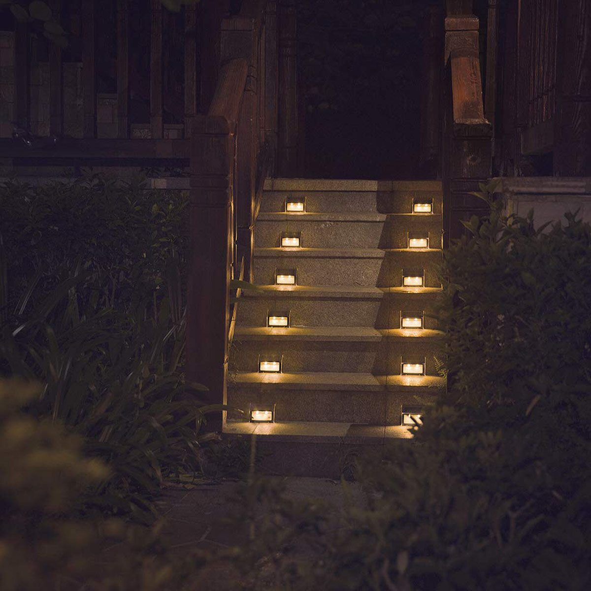 solar path deck lights