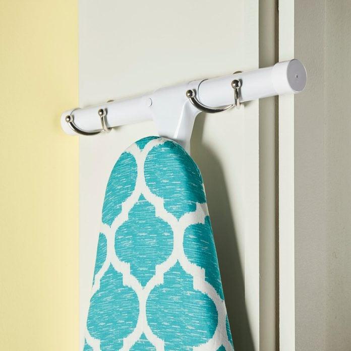 laundry room ideas Ironing board coat hook holder