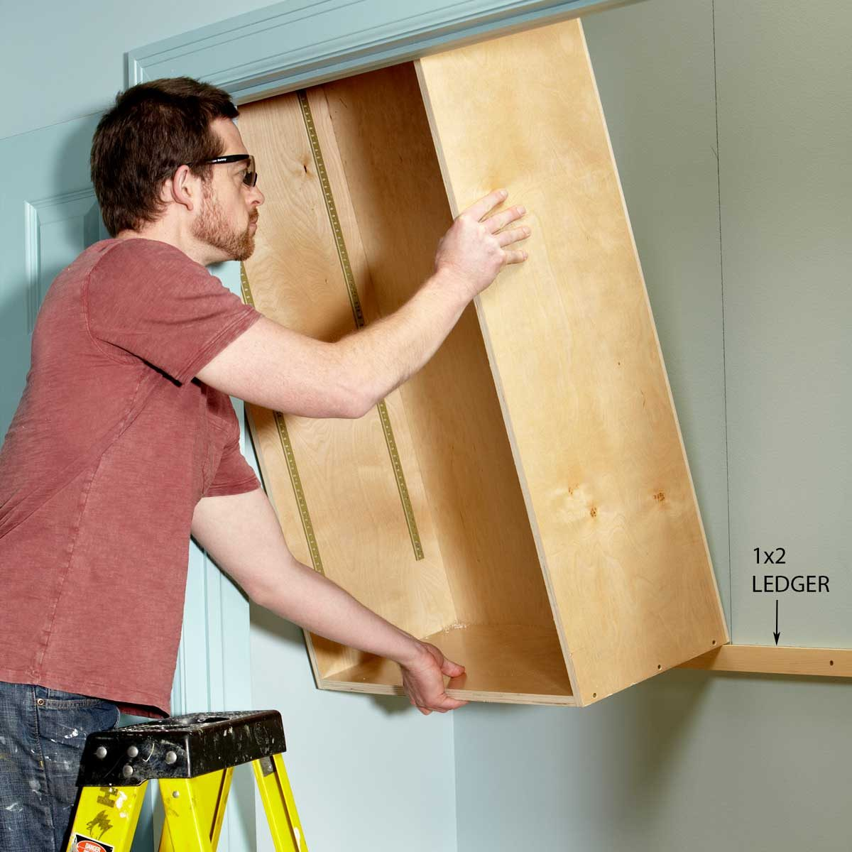Install the cabinets