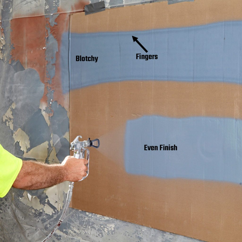 showing the different kinds of finishes from spray paint | Construction Pro Tips