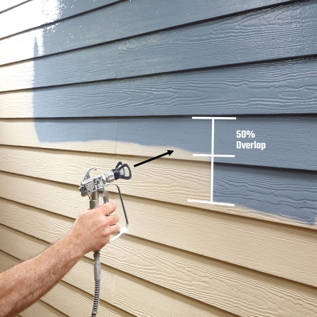 spray painting siding | Construction Pro Tips
