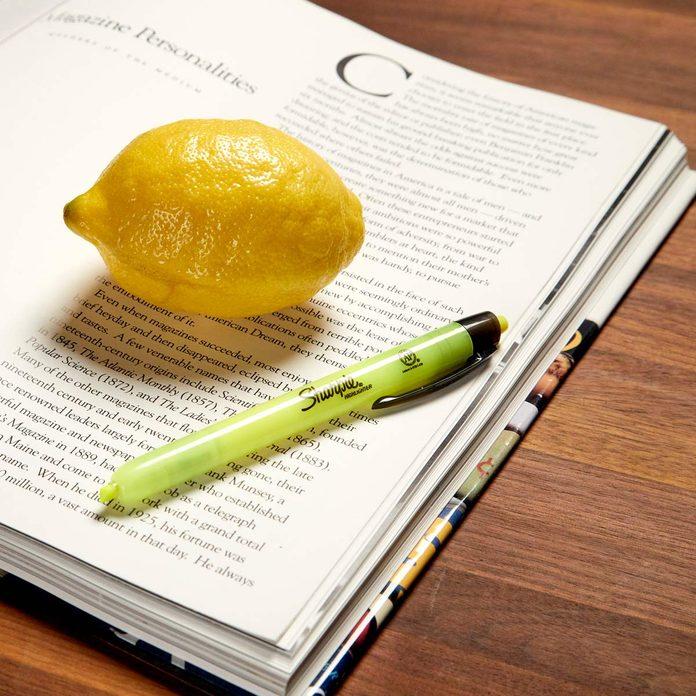 HH lemon remove highlighter stain
