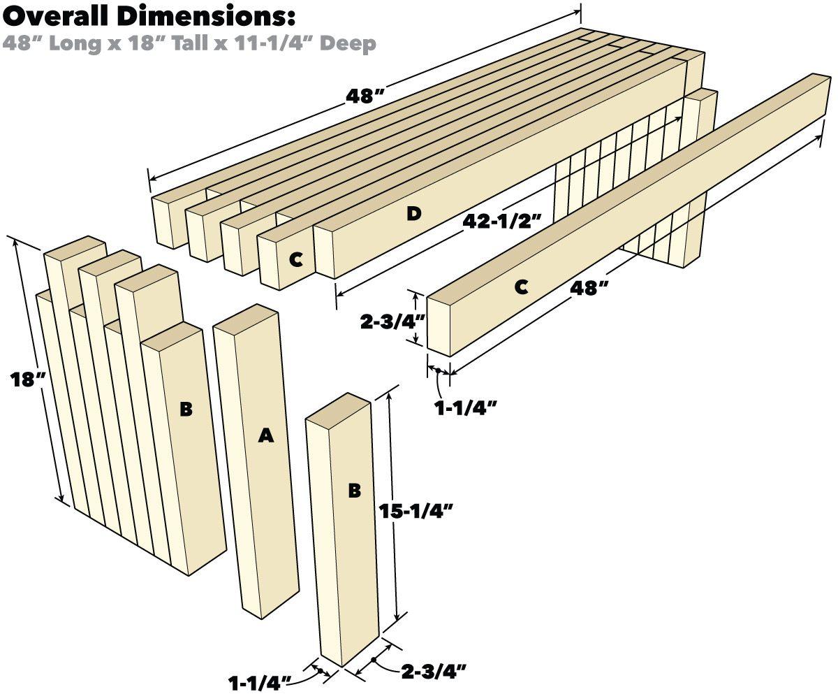 Finger Joint Bench Tech Art