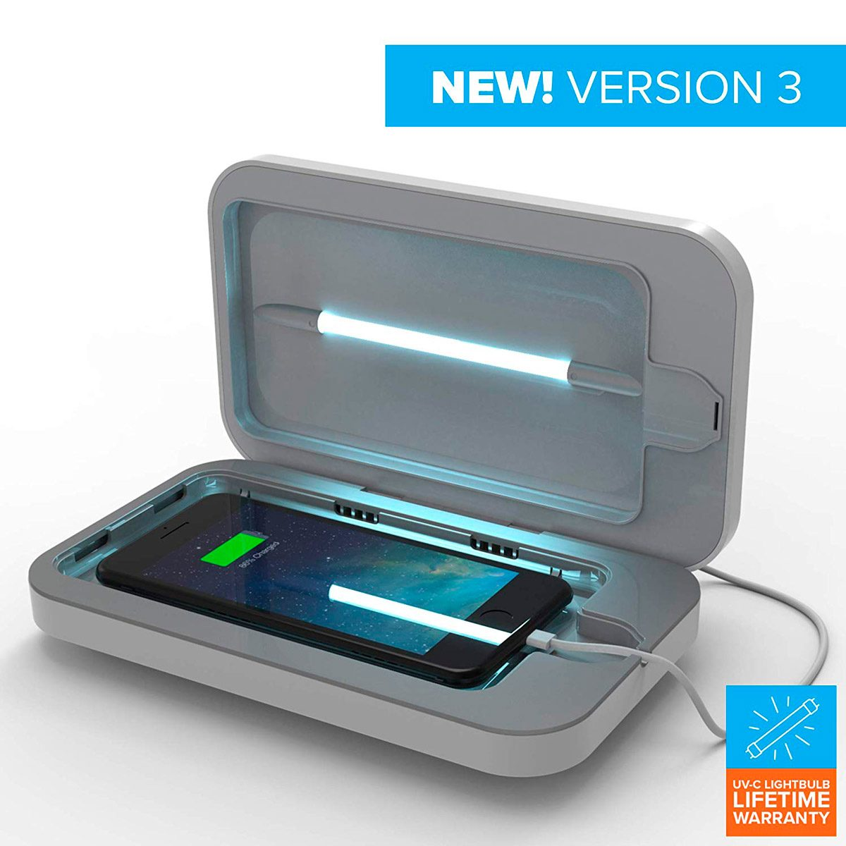 Phone soap sanitizer and charger