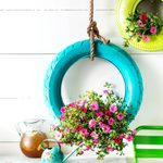 Retread & Grow: How to Turn an Old Tire Into a Hanging Planter