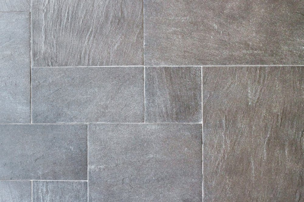 Natural slate tile paving