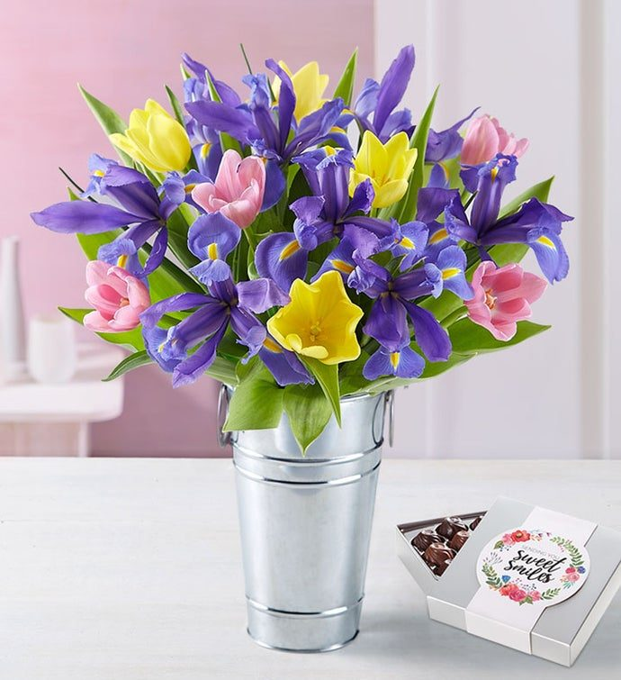 mother's day flowers and chocolate