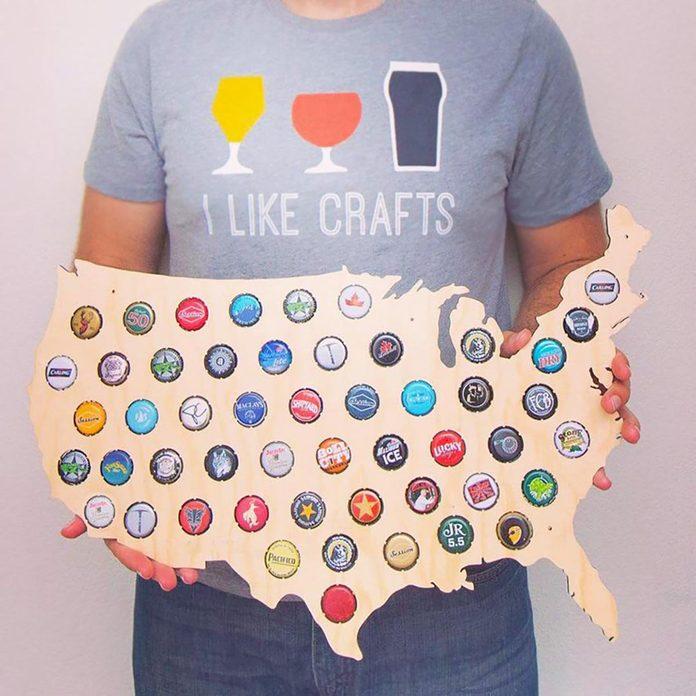 Amazon prime beer cap map
