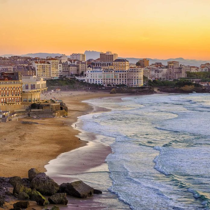 aerial view of Biarritz France