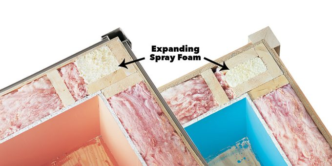 mold in corners of wall fix expanding spray foam