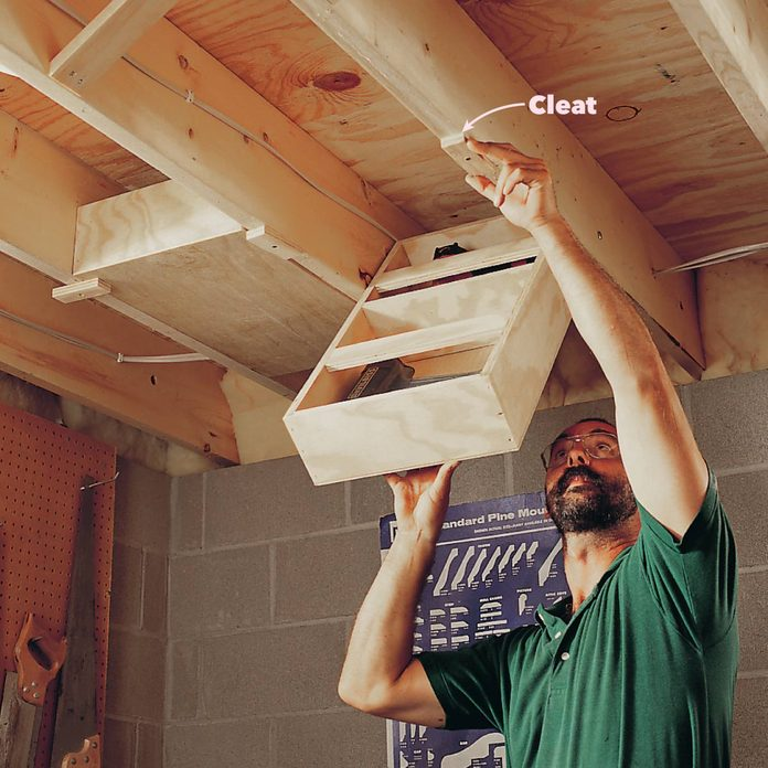 small workshop solutions ceiling drawers