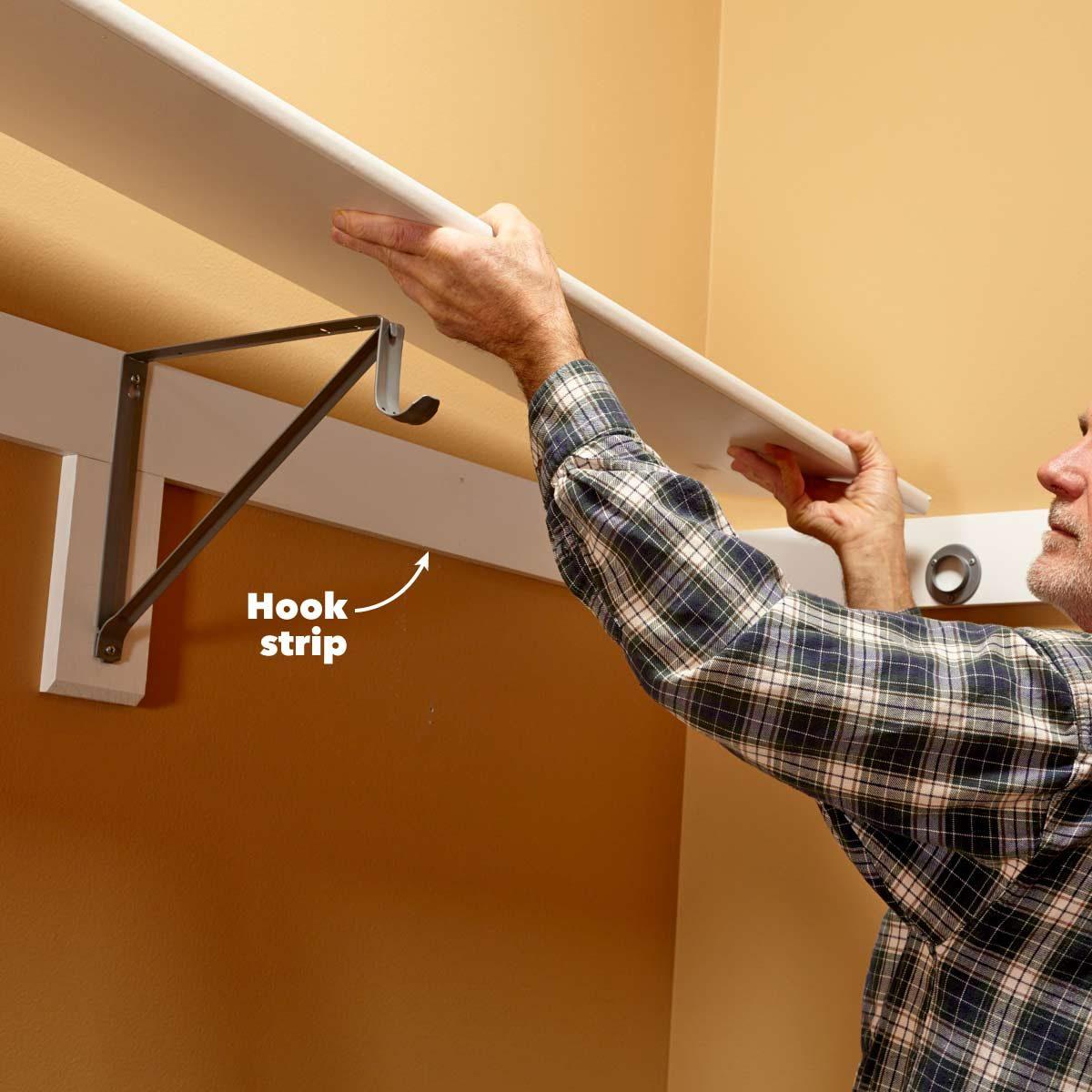 hanging shelves sturdy closet shelves