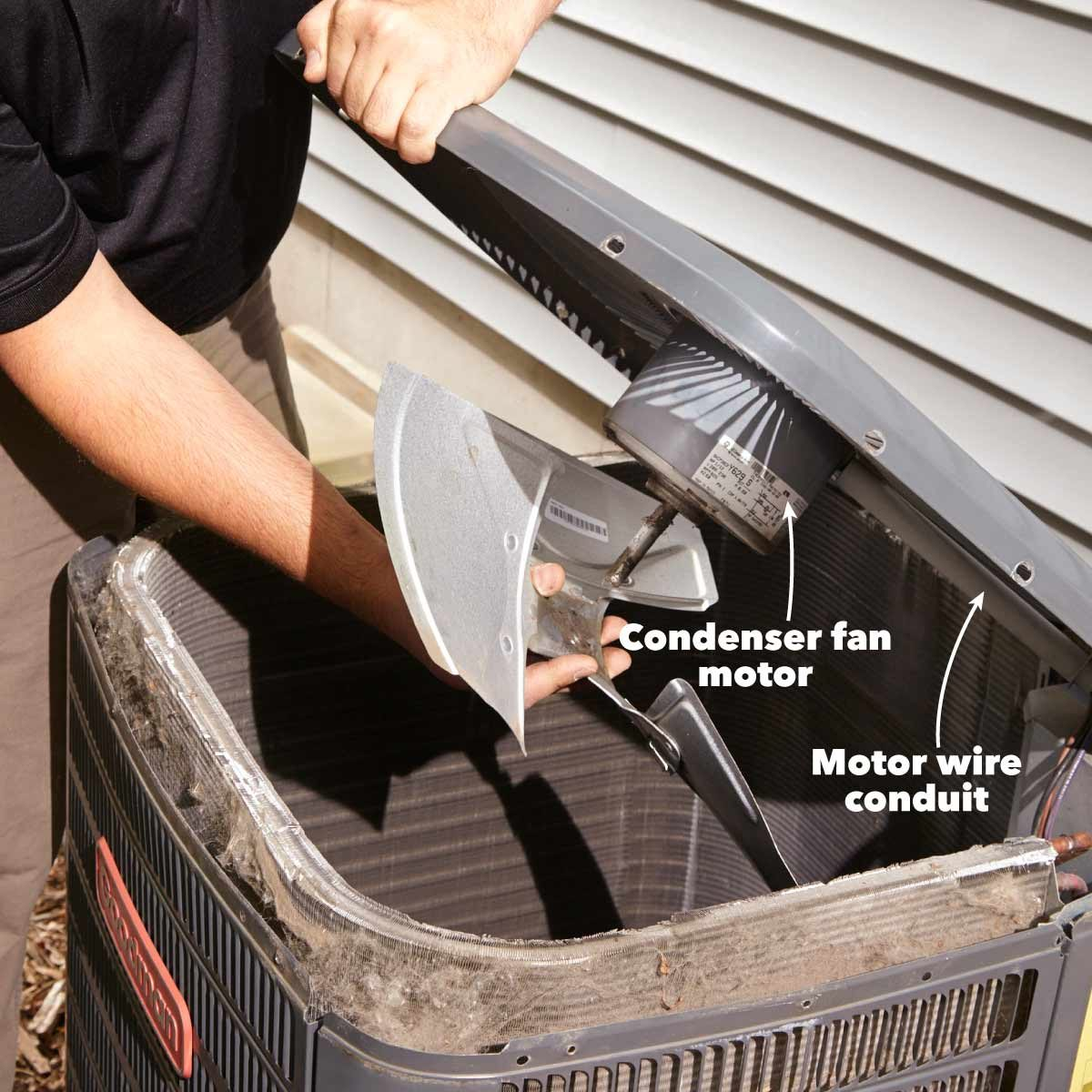 Replace the fan motor in air conditioner