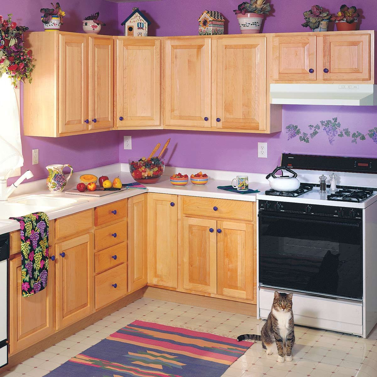 outdated purple kitchen