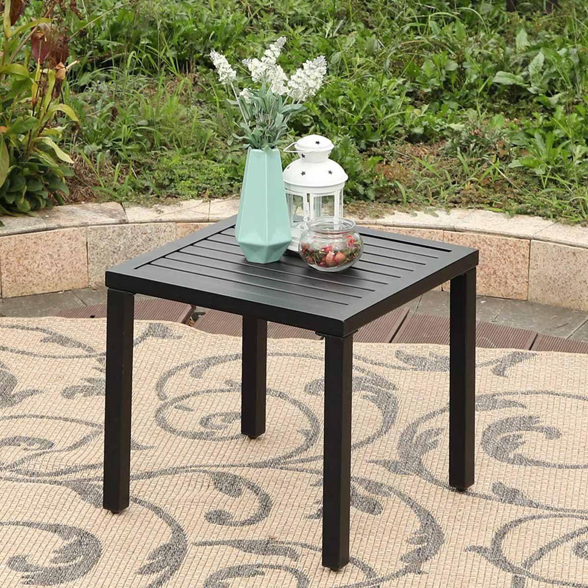 PHI-VILLA-Indoor-Outdoor-Small-Metal-Square-Side_End-Table-Patio-Coffee-Bistro-Black-Table
