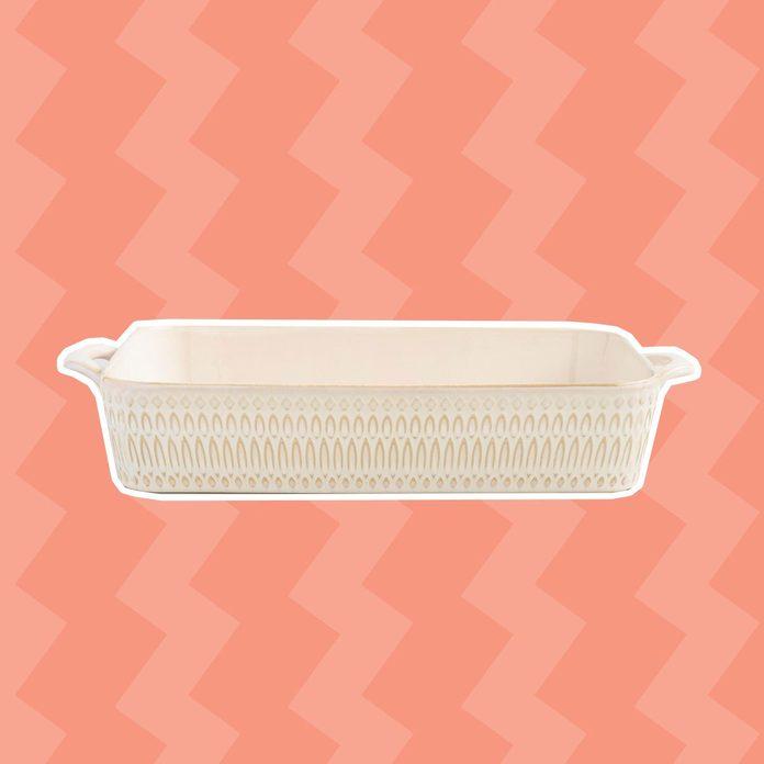 Textured Stoneware Lasagna Pan