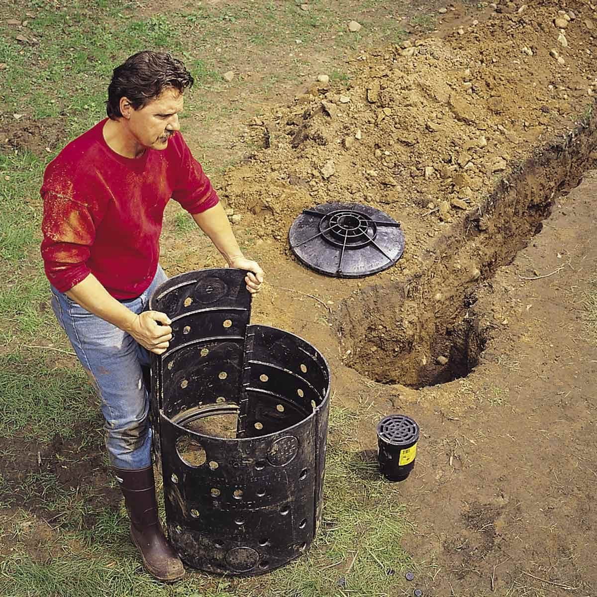 dry well installation