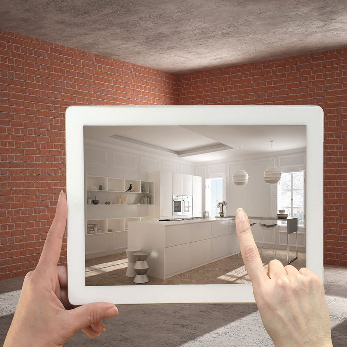 viewing a remodel through AR
