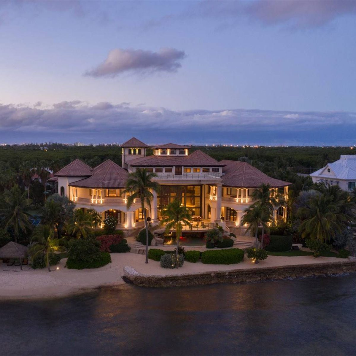 Large mansion with big beach