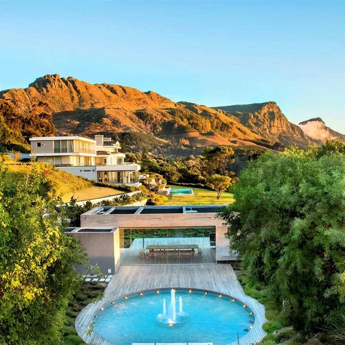 Mansion home near mountains in Cape Town, South Africa