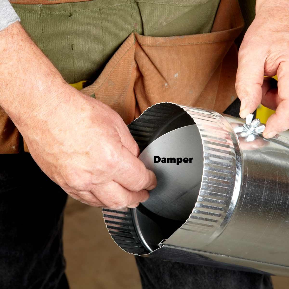 round ductwork installation damper