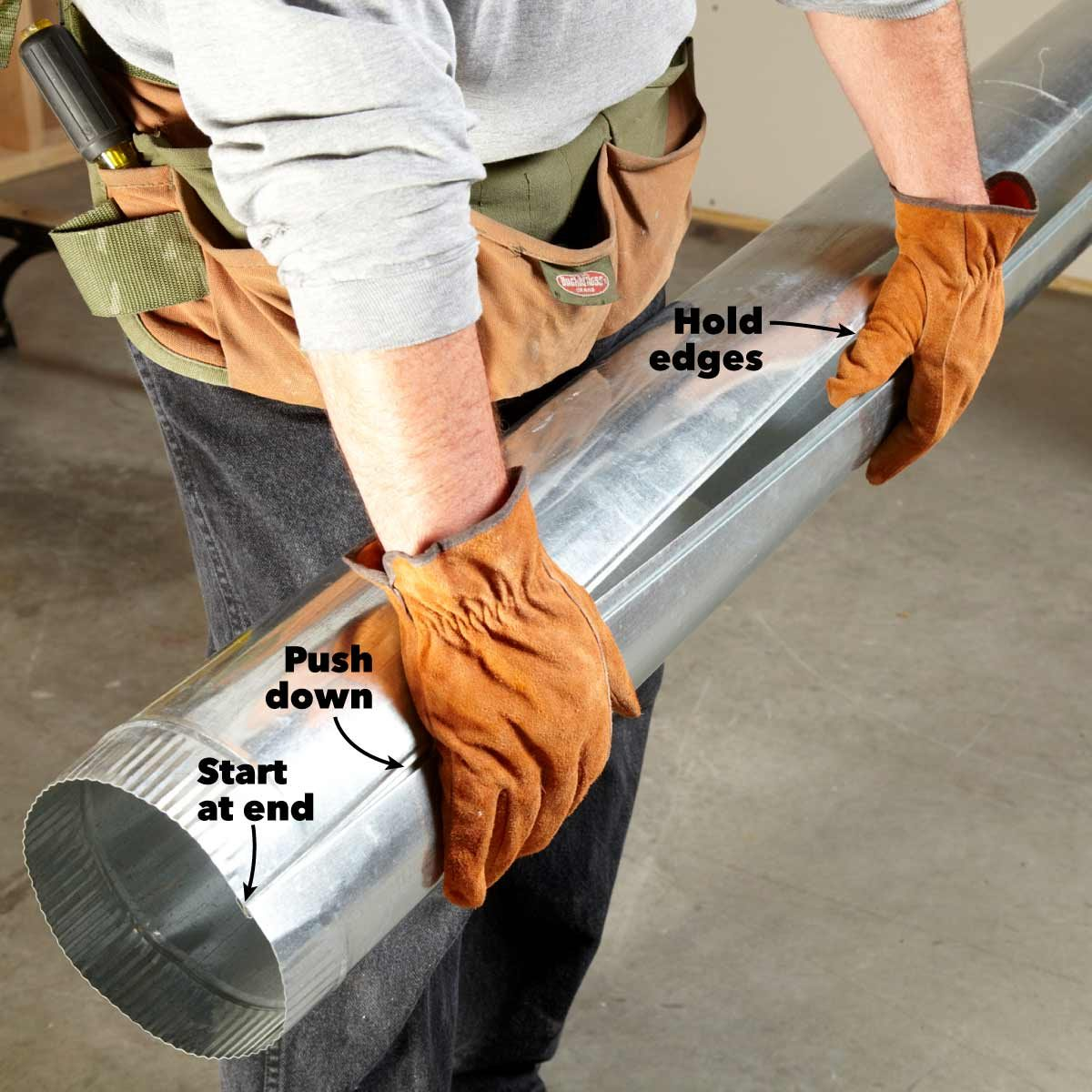round ductwork installation assemble like a zipper