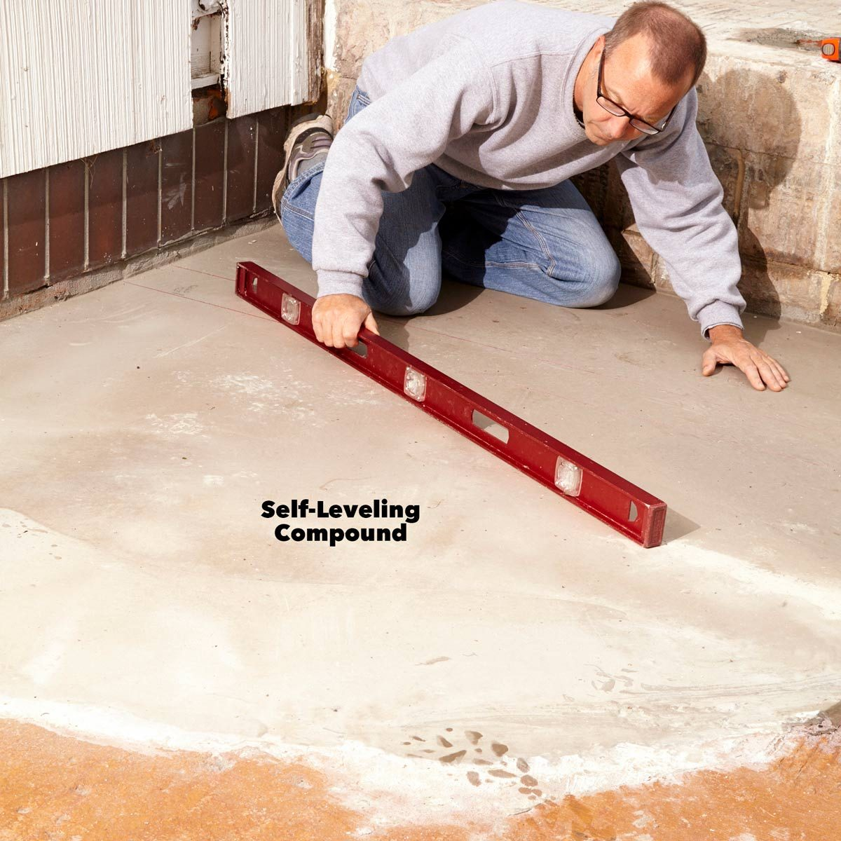 concrete patio leveling