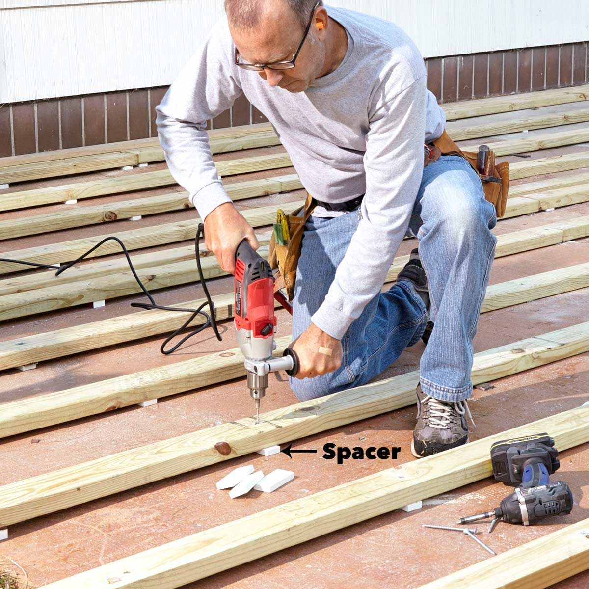 patio deck sleeper spacer