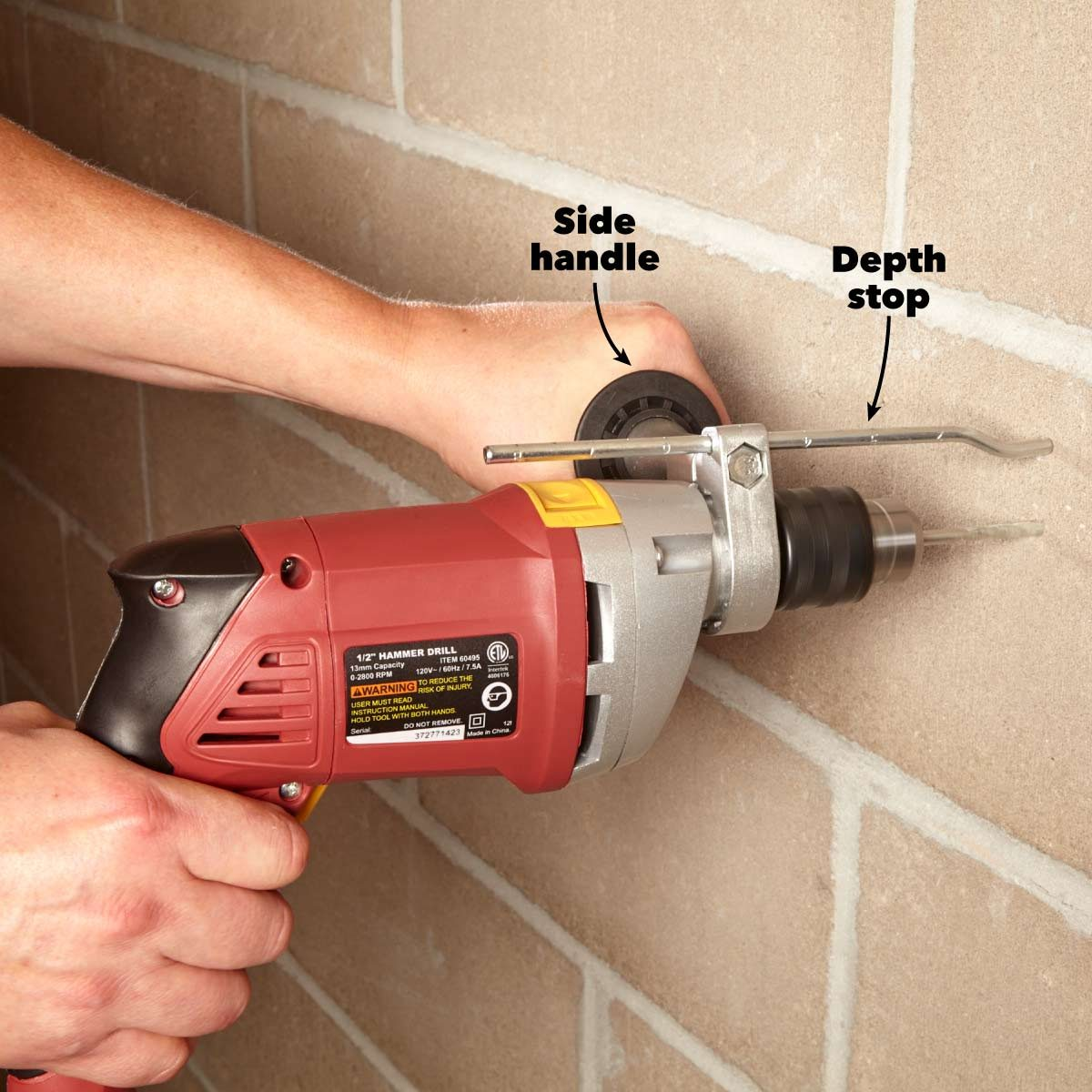 rotary vs hammer drills depth stop