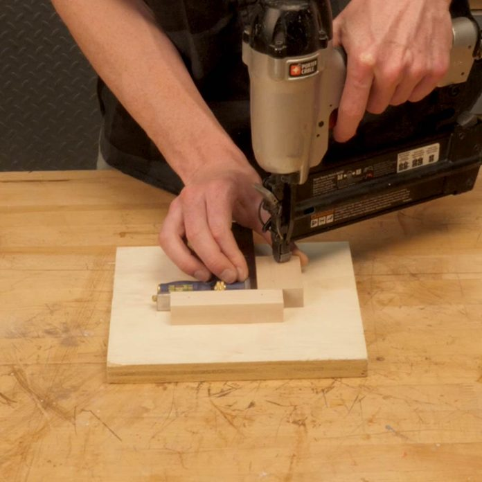 flip down coat rack drill press jig