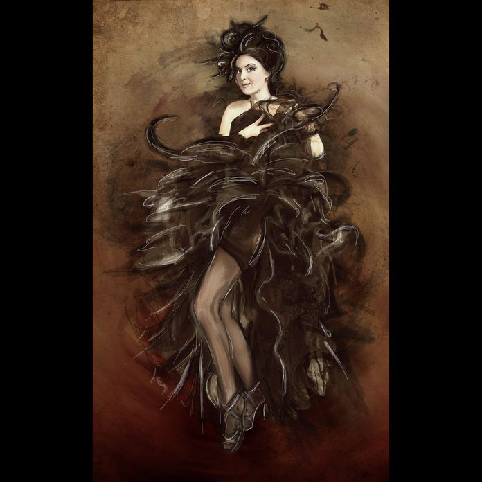 Girl in style Giovanni Boldini painting, impressionism