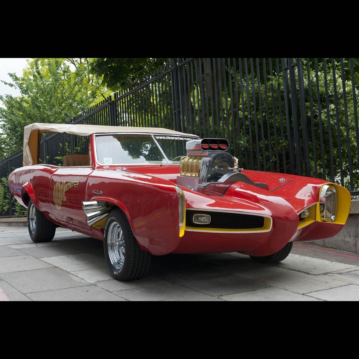 """A red Pontiac GTO used in the television show """"The Monkees"""""""
