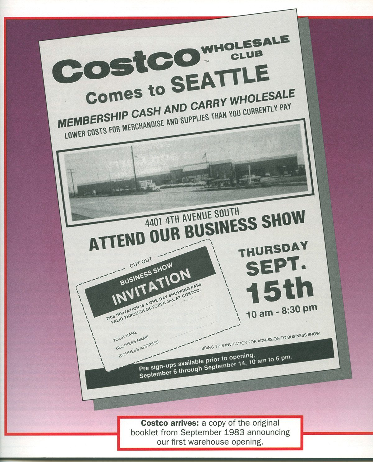 Costco Opening Flyer