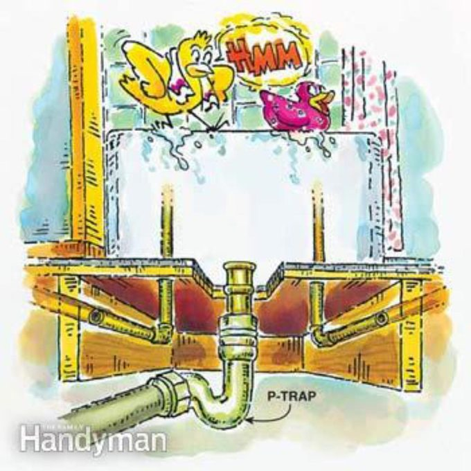 how joists work p-trap