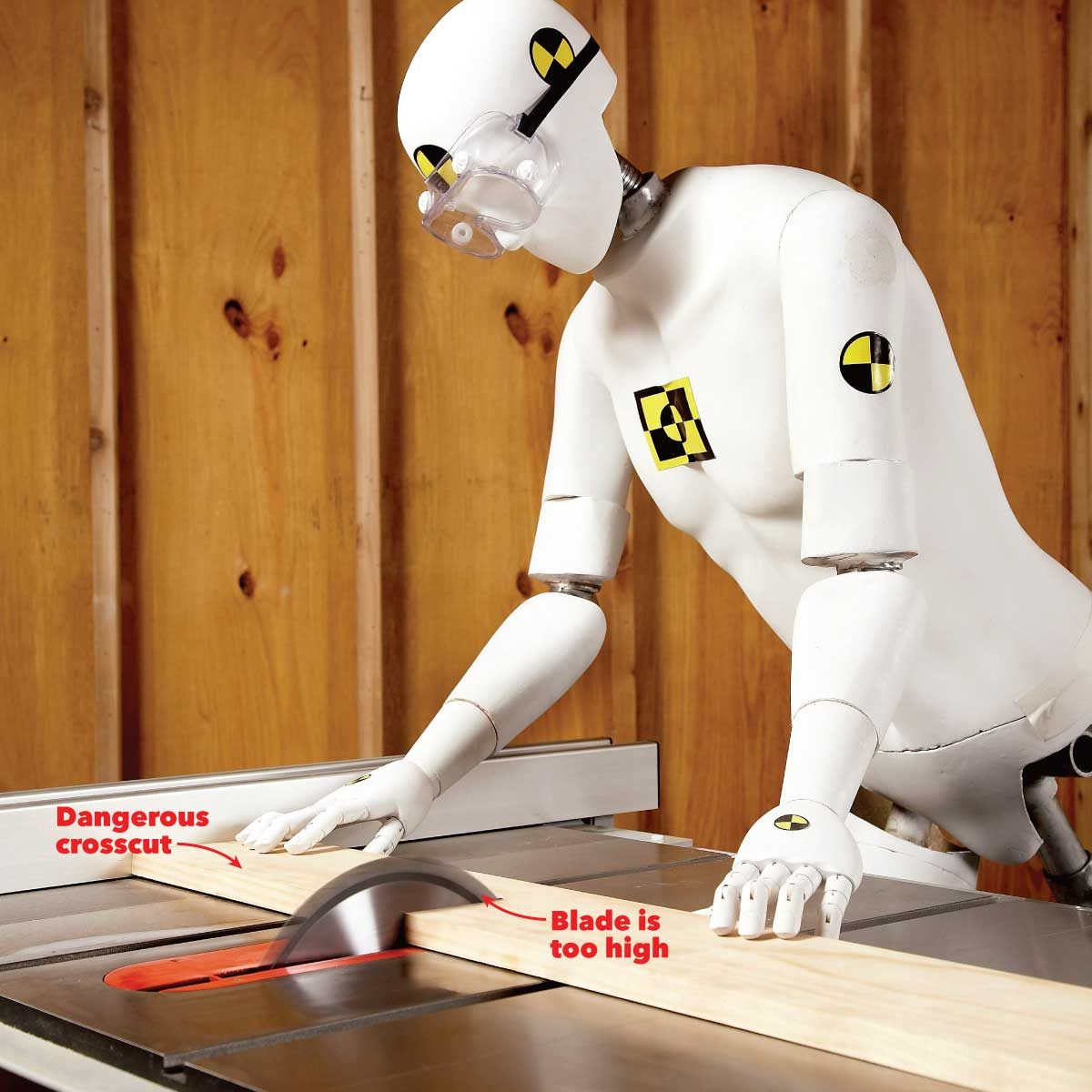 common safety injuries don't crosscut against the table saw fence