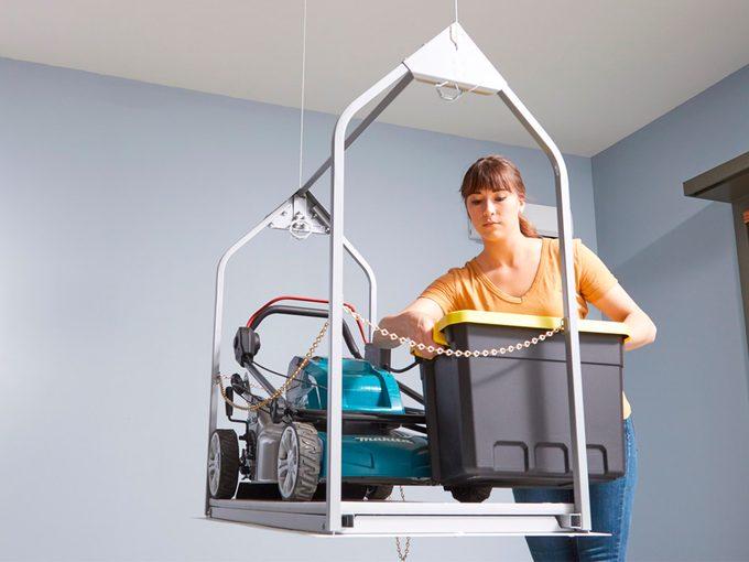 installing an attic lift in garage