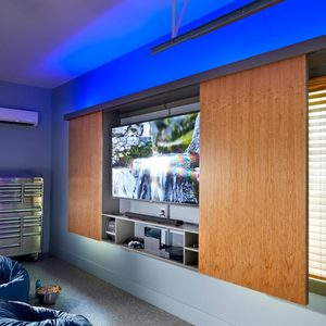 How to Build a Super-Simple Garage TV Cabinet