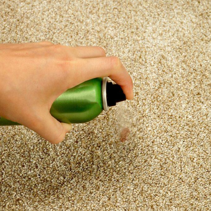 Hairspray remove nail polish from carpet