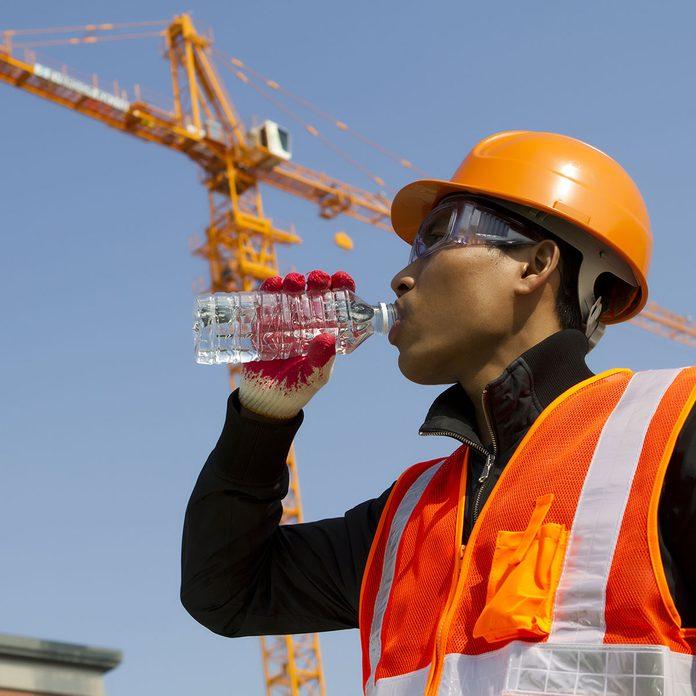 Heat stress, worker drinking water