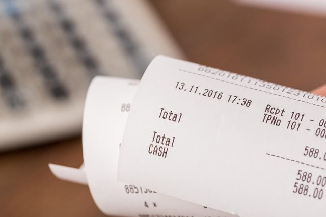 Receipts With Calculator