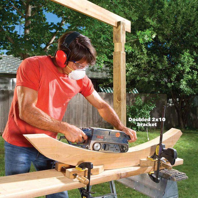 hammock awning curved brackets