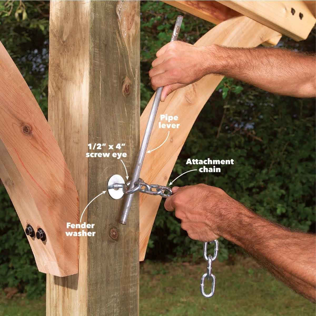 hammock awning add attachment chain