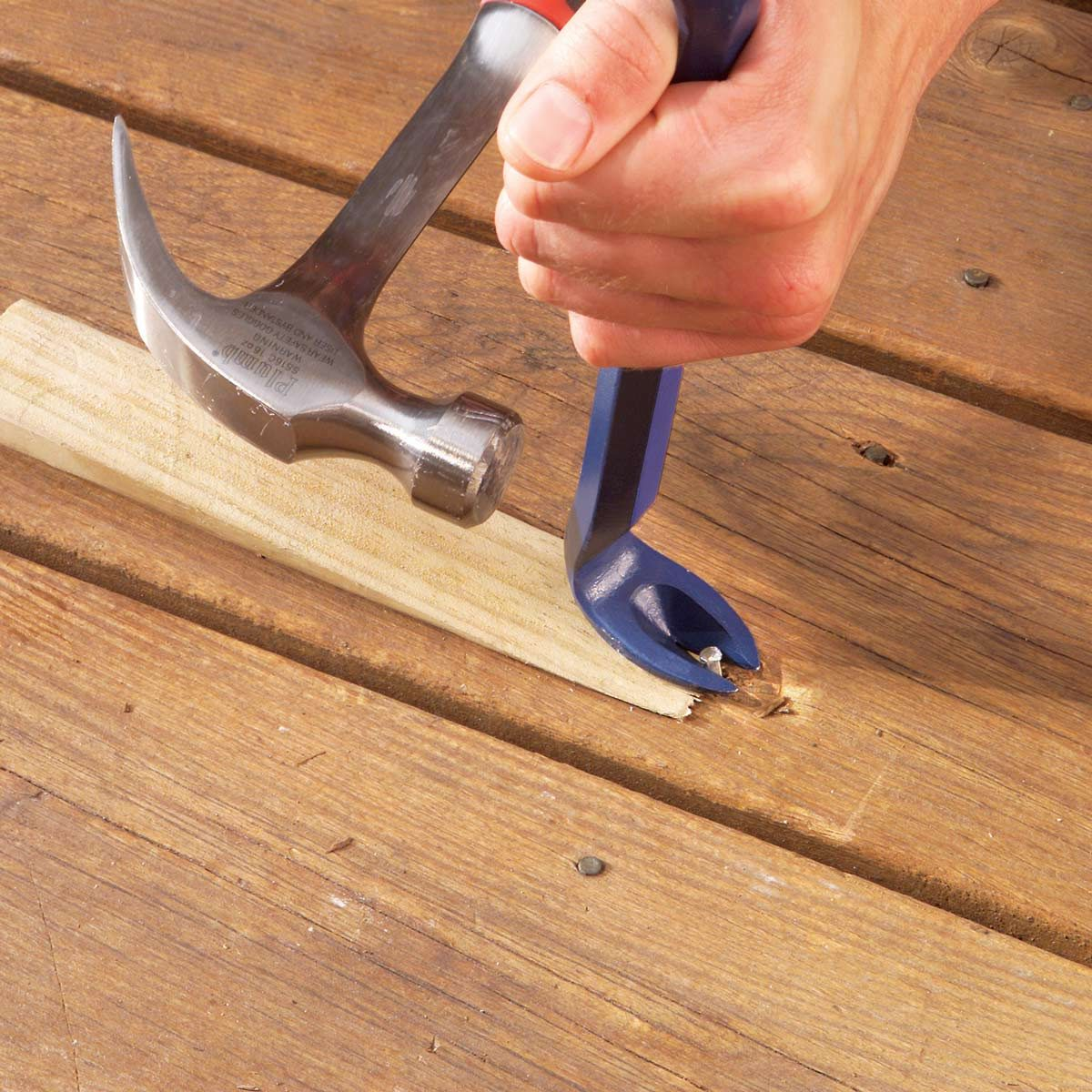 replace popped deck nails