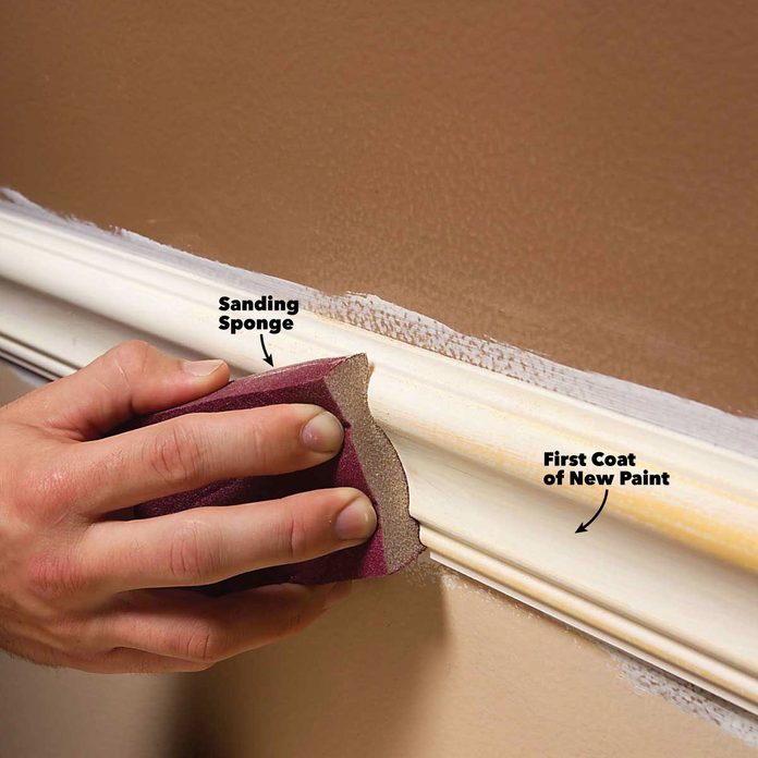 interior painting tips sand trim