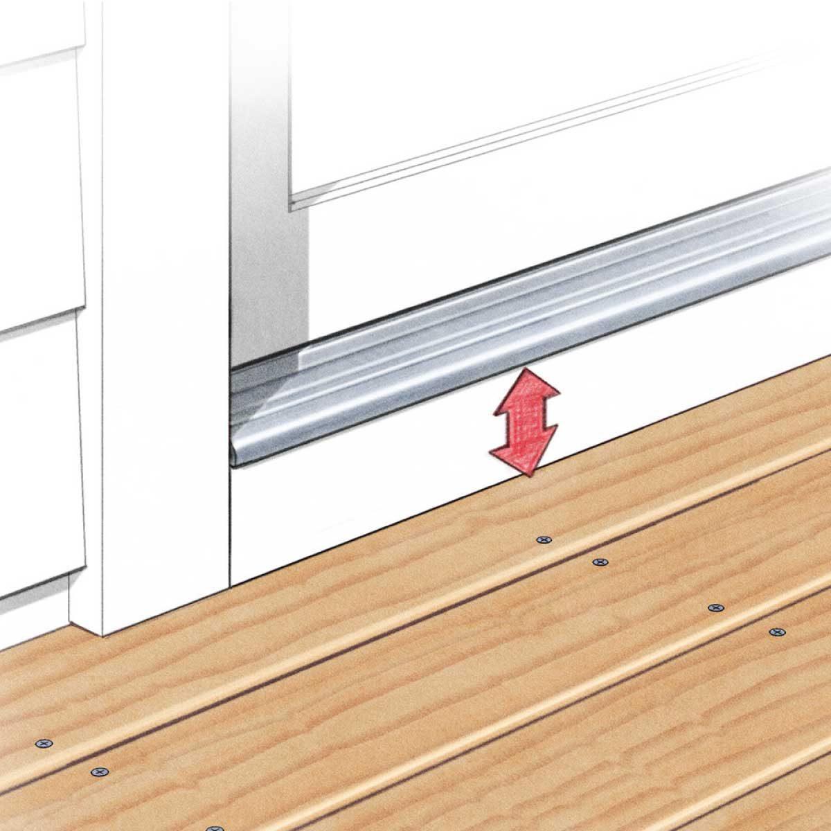 deck building tips leave a gap below doors