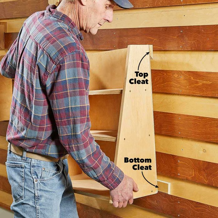 french cleat tool wall large support